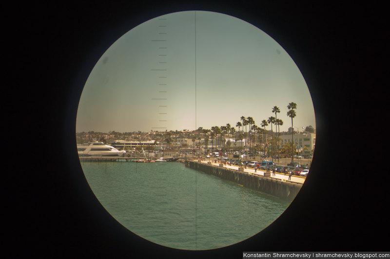 USA California San Diego USS Dolphin AGSS-555 США Калифорния Сан Диего Американская Подводная Лодка Дельфин Перископ