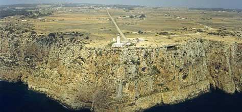 Formentera, acantilado