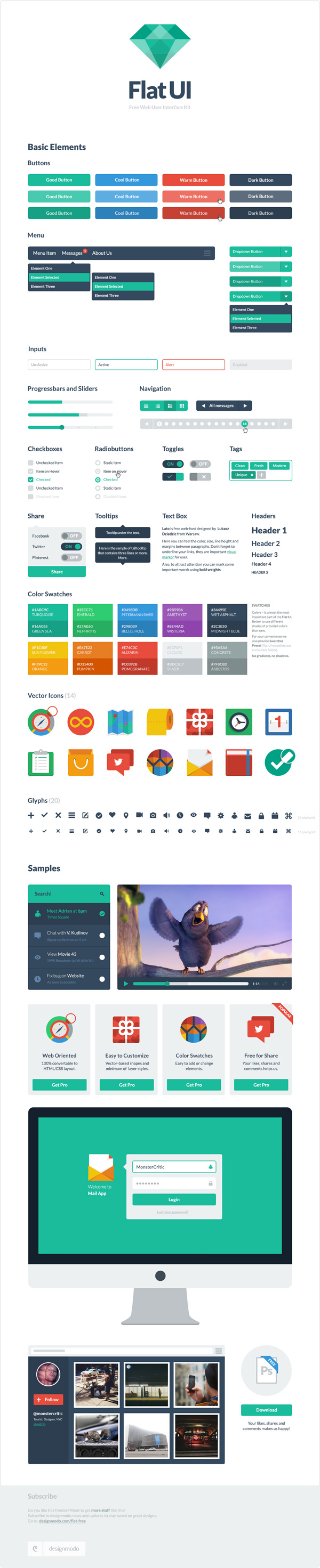 Download Designmodo Flat-UI Template