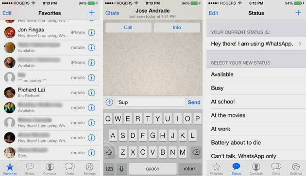 Whatsapp لهواتف آيفون يحصل على تحديث للتوافق مع واجهة iOS 7