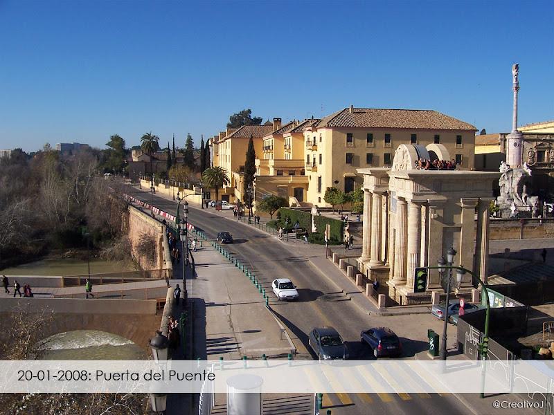 Ronda de Isasa, 2008, Puerta del Puente, Puente Romano, Guadalquivir, Córdoba, mirador
