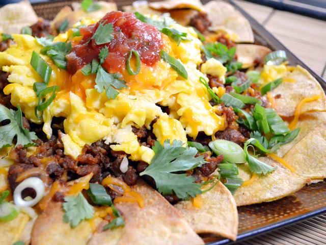 chorizo breakfast nachos - Budget Bytes
