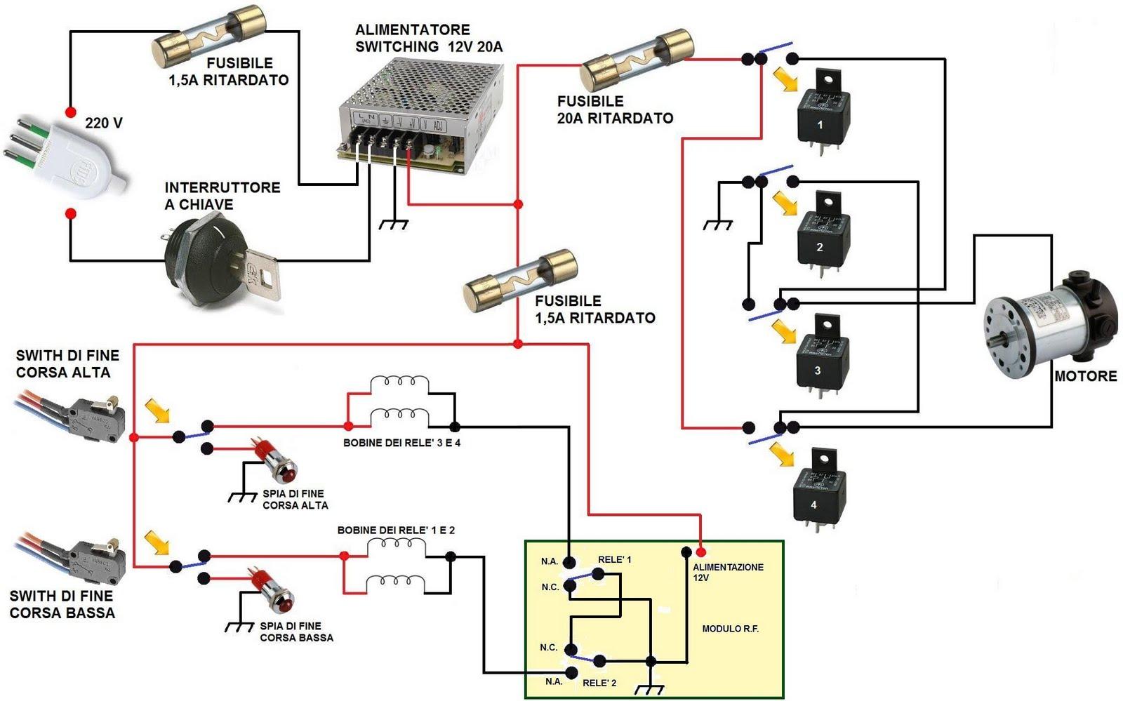 Schema Elettrico Ecu : Schemi elettrici per plastici ferroviari sistema di