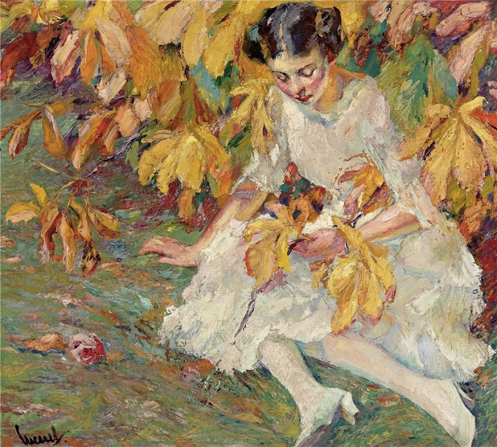 Edward Cucuel - In Autumn Sunlight