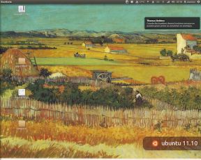 Una cita al inicio de Ubuntu en Oneiric Ocelot