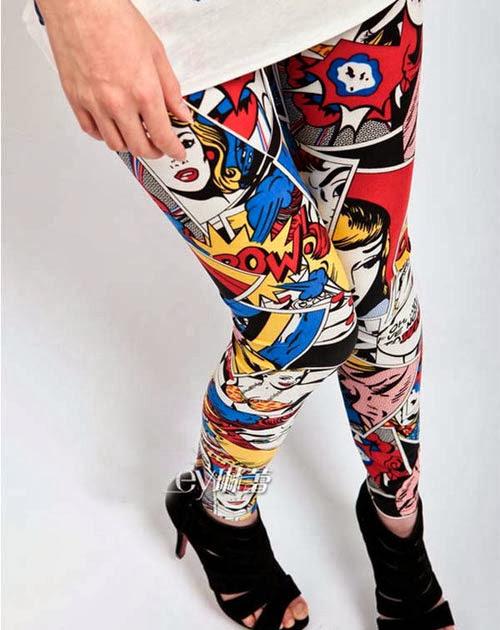 Inspiração: legging estampada - quadrinhos