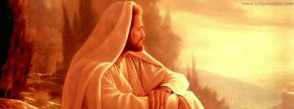 Portada para facebook de Cristo jesus meditando