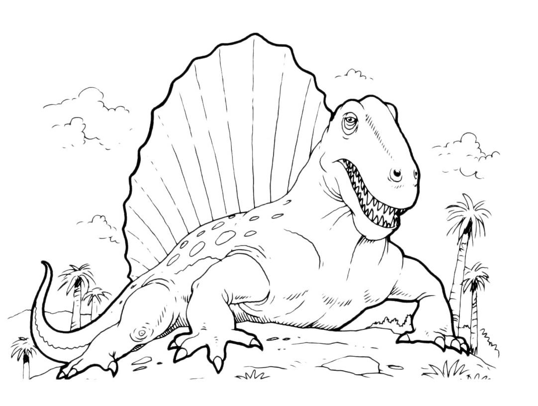 Dessin a colorier de dinosaure - Modele dessin dinosaure ...