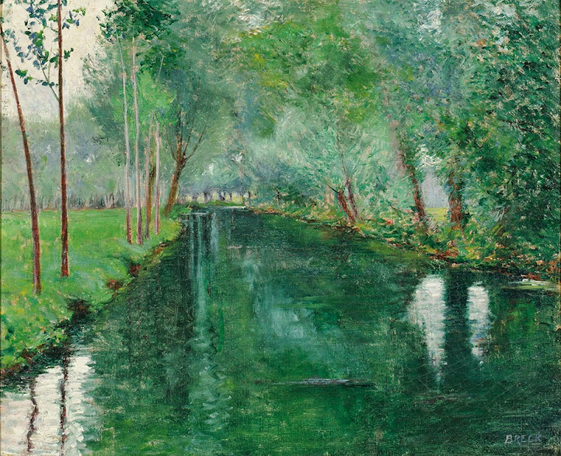 John Leslie Breck - The River Epte, Giverny, c. 1887