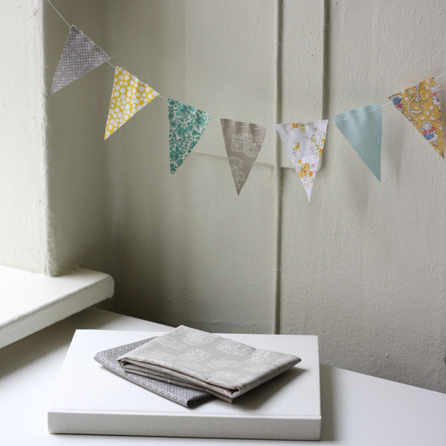 michael ann made stash busting swatch bunting