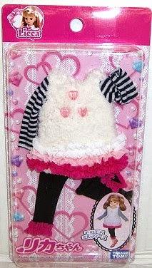 Trang phục Licca Dress SetMille Feuille được sản xuất từ chất liệu vải an toàn của hãng Takara Tomy
