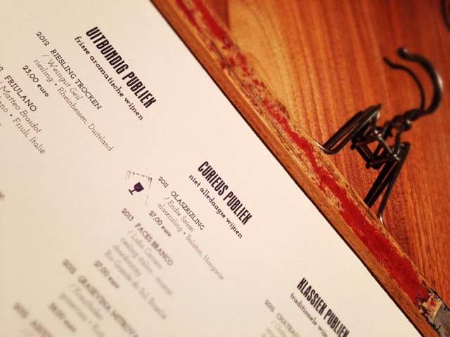 Restaurant Publiek Gent Menu
