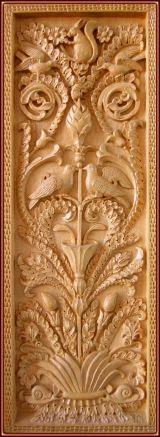 Cuadro ornamental. Talla en madera
