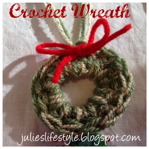 Julie S Creative Lifestyle Simple Crochet Christmas Wreath Ornament