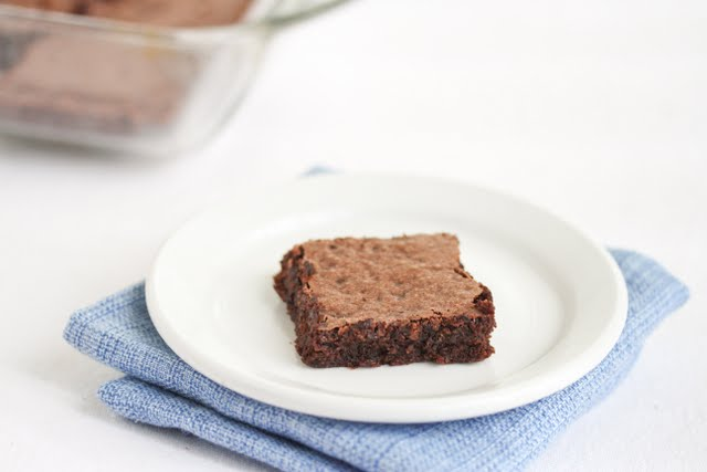photo of one brownie on a plate
