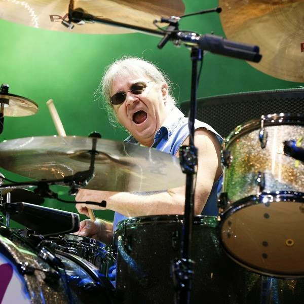 Ian Paice of 'Deep Purple' performs on stage of the Nice Jazz Festival on July 10, 2014 in Nice, southeastern France.