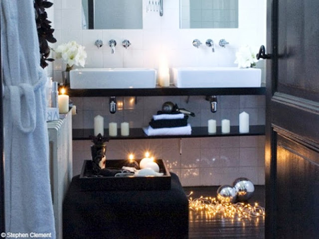 Candles - LED- Christmas ornaments For Bathroom