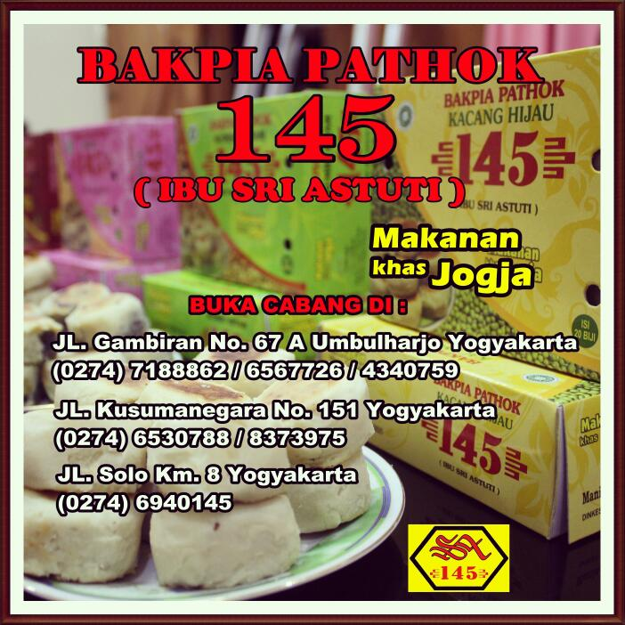 Bakpia Pathok 145 Ibu Sri Astuti