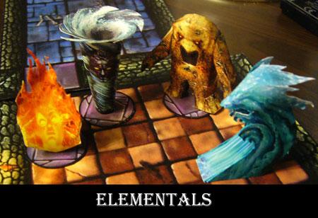 Fantasy RPG Elementals Papercraft