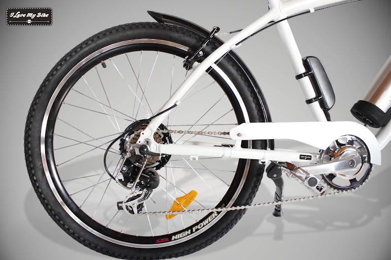 bicicleta con motor eléctrico