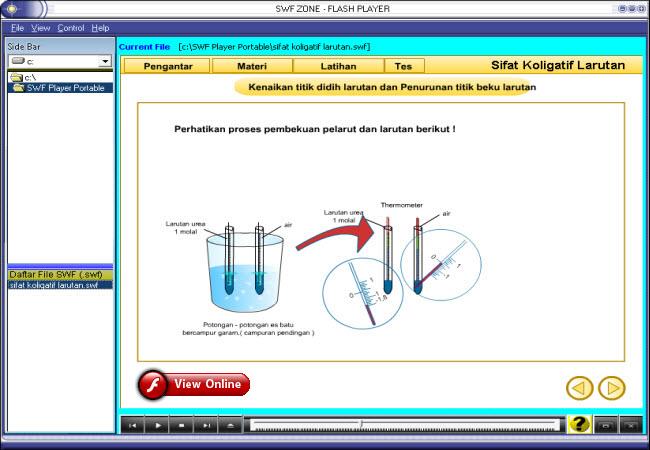 Animasi kimia, simulasi kimia, free download, swf kimia, flash kimia, animasi sifat larutan, simulasi sifat larutan, materi belajar kimia dari pustekkom, file type: .swf