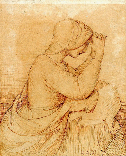 Marie Ellenrieder - Kneeling girl praying