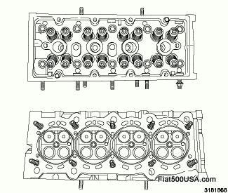Fiat 500 Cylinder Head