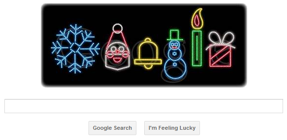 Google Doodle Lights Up for the Holidays, Happy Holidays!, happy holidays spanish, happy holidays comments, happy holidays message,