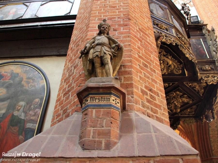 Katedra w Pelplinie - figura Mestwina