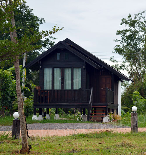 Thai wooden  house of Tungyai resort