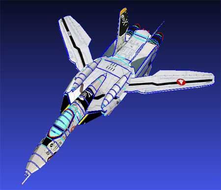 Macross Zero Papercraft VF0S