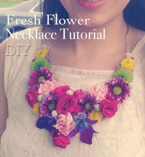 so creative diy fresh flower necklace tutorial