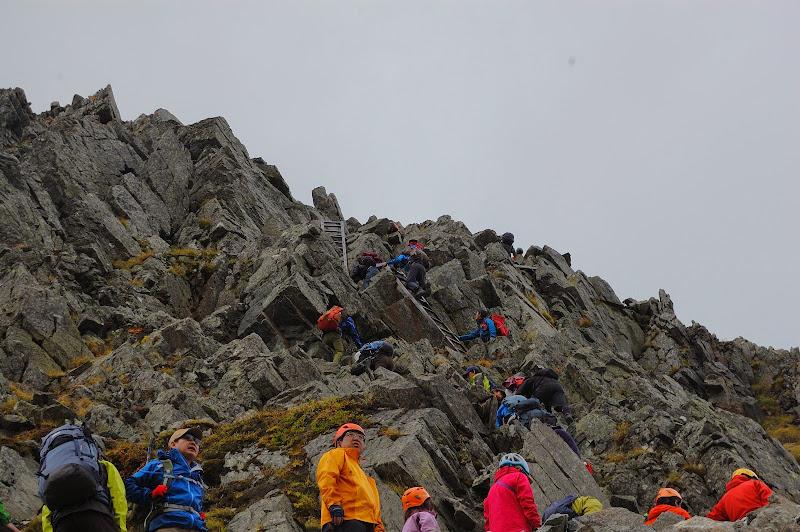 奥穂高岳の最初の急登