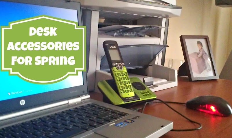 Desk Accessories for Spring - Green Cordless Phone from Vtech