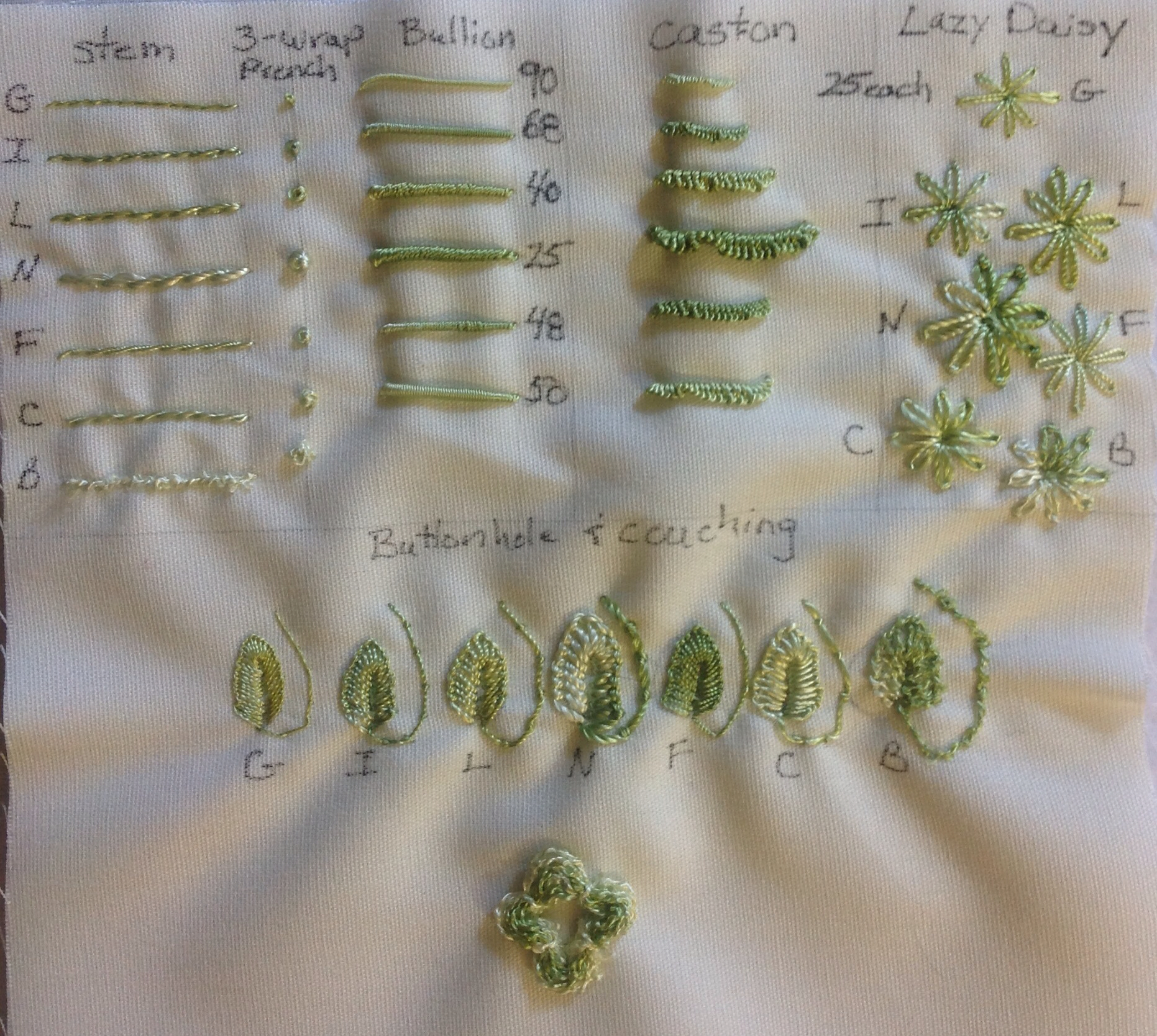 Threading Along Brazilian Embroidery Threads Part 2