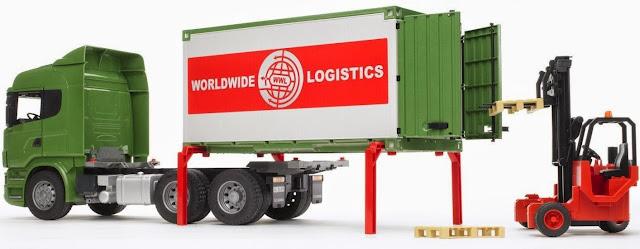 Thùng container phía sau có thể tháo rời khỏi xe