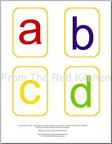 the red kitchen: You asked for it: Alphabet Flashcards PDF