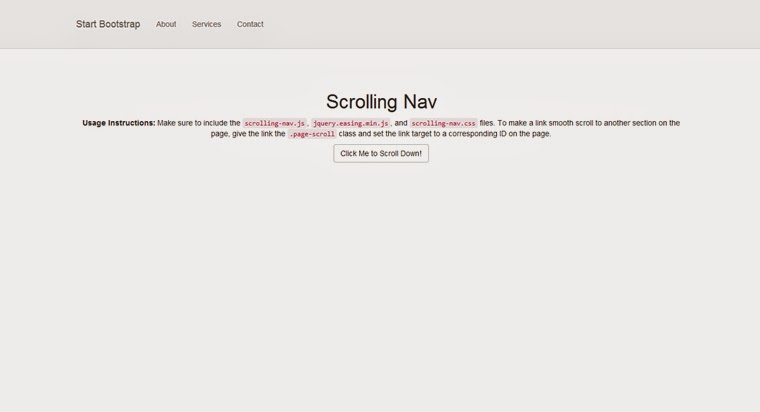 Free Bootstrap Themes Scrolling Nav Templates