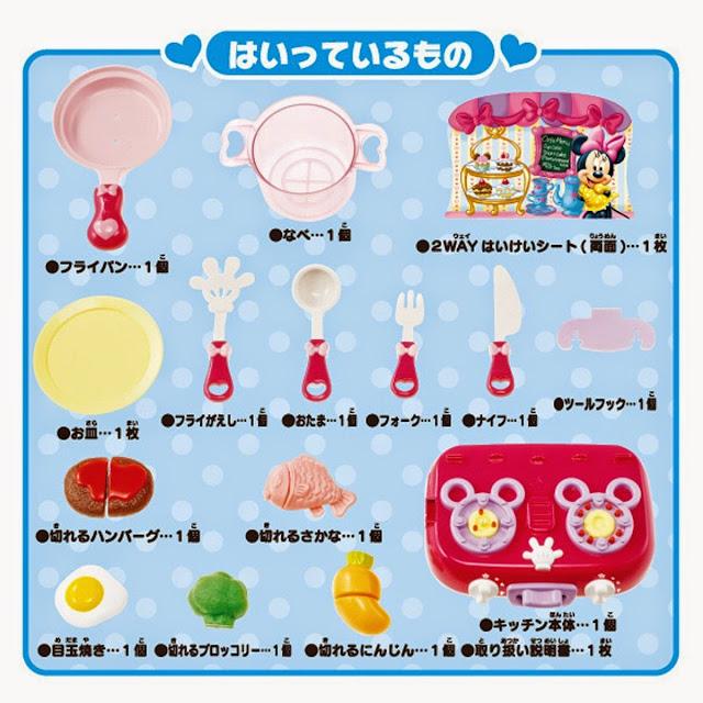 Các thành phần của đồ chơi nấu bếp cùng chuột Minnie
