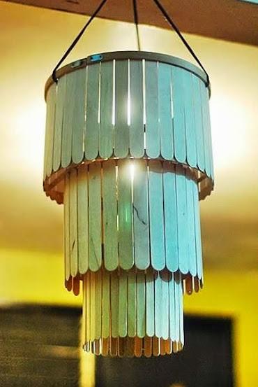 Luminária palitos de picolé