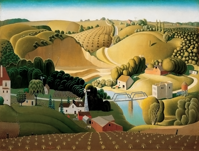 Stone City, Iowa,1930 by Grant Wood (American, 1891–1942)