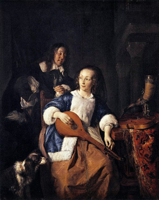 Gabriel Metsu - The Cittern Player