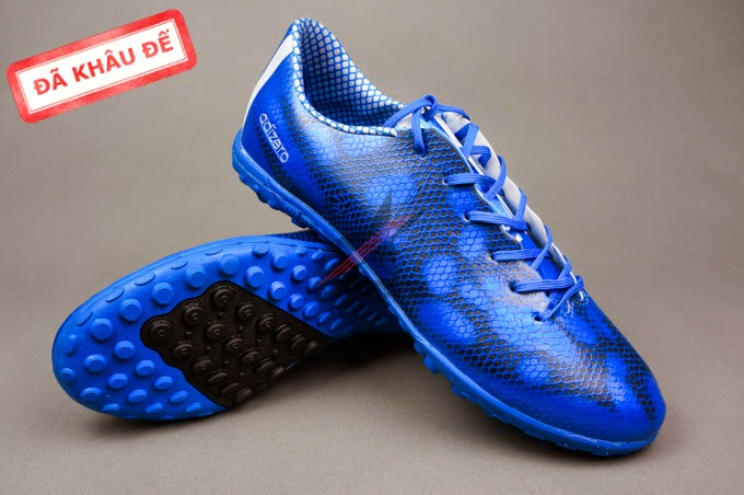 giày bóng đá - bán buôn giày bóng đá F10 Real Dragon Xanh 1 Đen TF