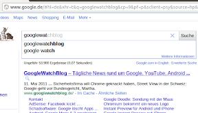 Google Instant auf google.de