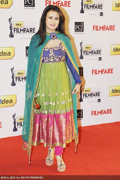 Gorgeous Poonam Dhillon looked graceful during the 58th Idea Filmfare Awards 2013, held at Yash Raj Films Studios in Mumbai.Click here for:<br />  58th Idea Filmfare Awards