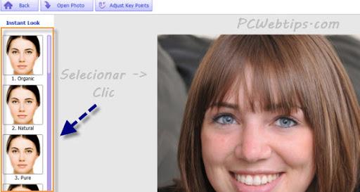 seleccionar perfil y retoque