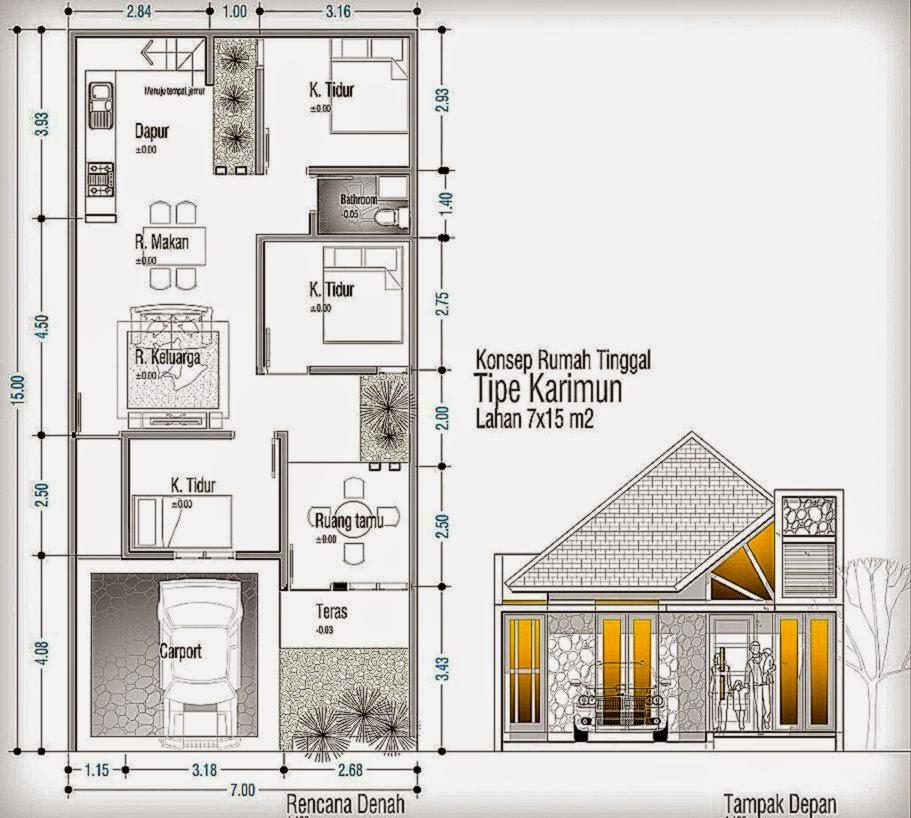 Denah Rumah Dan Gambar Rumah