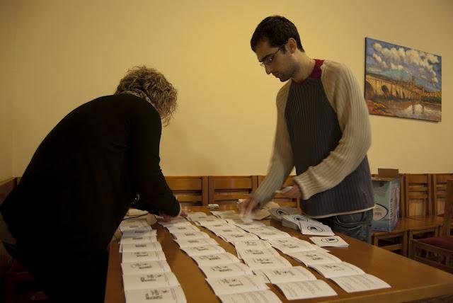 Preparación de los panfletos