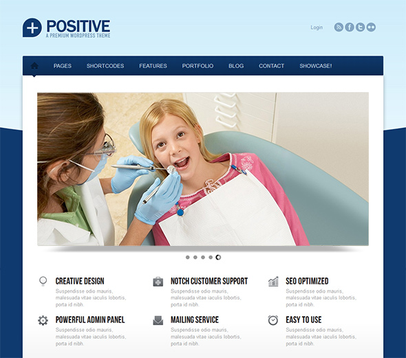 Positive health care WordPress theme