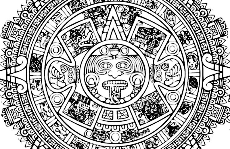 aztec coloring pages letter a - photo#21
